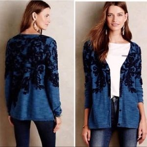 Anthropologie Moth Button Front Cardigan